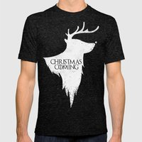 Christmas is Coming Mens Fitted Tee Tri-Black SMALL