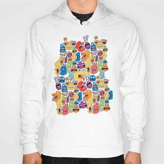 Monster Faces Pattern Hoody