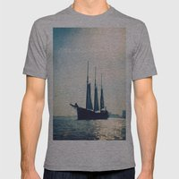 Sail Away Mens Fitted Tee Athletic Grey SMALL