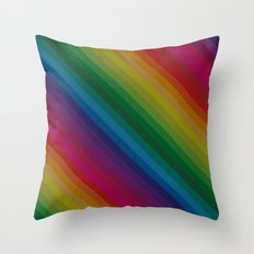 Sophisticated Rainbow Throw Pillow