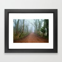 Foggy Woodland Framed Art Print