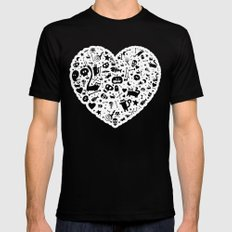 Halloween Heart Mens Fitted Tee Black SMALL