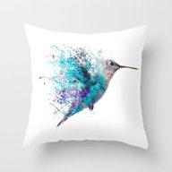 Throw Pillow featuring HUMMING BIRD SPLASH by John Gray