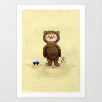 I'm A Bear Grrrrrrrr! Art Print