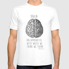 Brain SMALL Mens Fitted Tee White