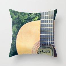 Artista Guitar Throw Pillow