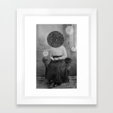 Thinking Framed Art Print