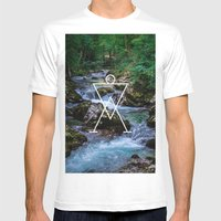 Paleolitic Mens Fitted Tee White SMALL