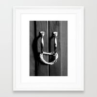 Locked Framed Art Print