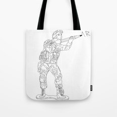 Military Art Tote Bag