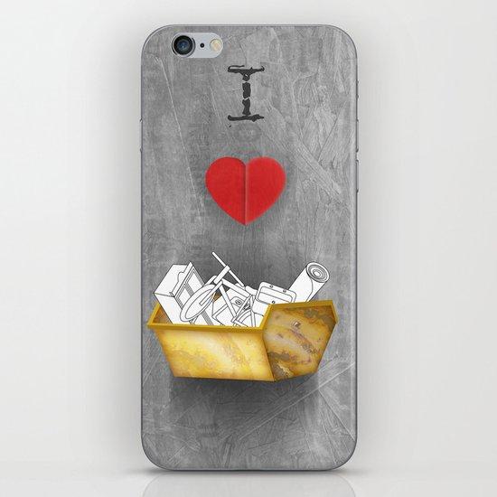 i heart skips iPhone & iPod Skin