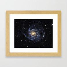 Spiral Galaxy M101 Framed Art Print