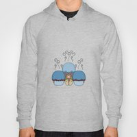 Cute Monster With Blue And Red Frosted Cupcakes Hoody