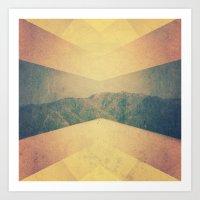 patterned hillside Art Print