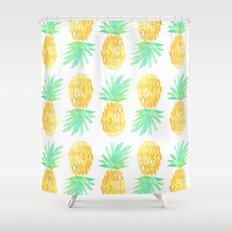 Salty Pineapple Shower Curtain