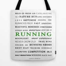 Running - Green  Tote Bag