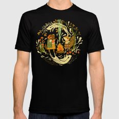 Animal Chants & Forest Whispers Mens Fitted Tee Black SMALL