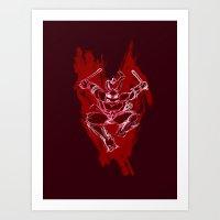 TMNT Rock: Raph Art Print