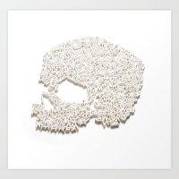 303. A Skull Of Letters Art Print