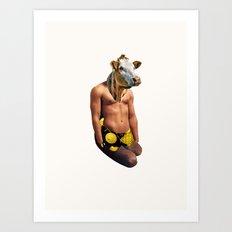 Muscle Cow Art Print