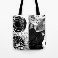 Delicate Flower Abstract Tote Bag