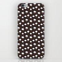 Rainclouds Black iPhone & iPod Skin