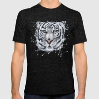White Tiger Mens Fitted Tee Tri-Black SMALL