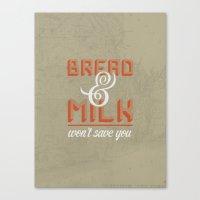 Bread and Milk  Canvas Print