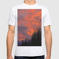 August Sunset Mens Fitted Tee Ash Grey SMALL