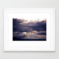 Cold Blue Morning Framed Art Print