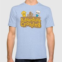 Adventure Crossing Mens Fitted Tee Tri-Blue SMALL