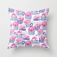 Pretty Tea Throw Pillow