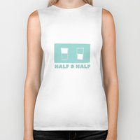 half & half Biker Tank