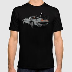 DeLorean Mens Fitted Tee SMALL Black
