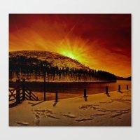 Kings Tree Winter Dawn Canvas Print