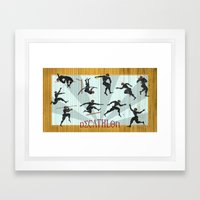 Decathlon Horizontal Poster Framed Art Print