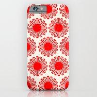 Vintage Flower-Red iPhone 6 Slim Case