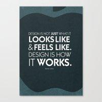 Typographic Quote Design  [Steve Jobs] Canvas Print