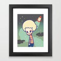 Displaced Person Framed Art Print