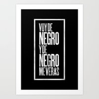 Voy De Negro — Letterp… Art Print