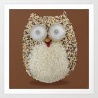 Specs, The Grainy Owl! Art Print