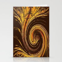 Golden Filigree Germination Stationery Cards