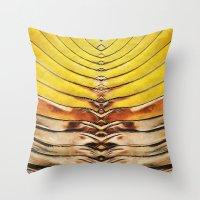 Palm Frond Leaf Macro Throw Pillow