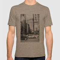 New York, New York Mens Fitted Tee Tri-Coffee SMALL