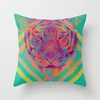 Tiger Bright Throw Pillow