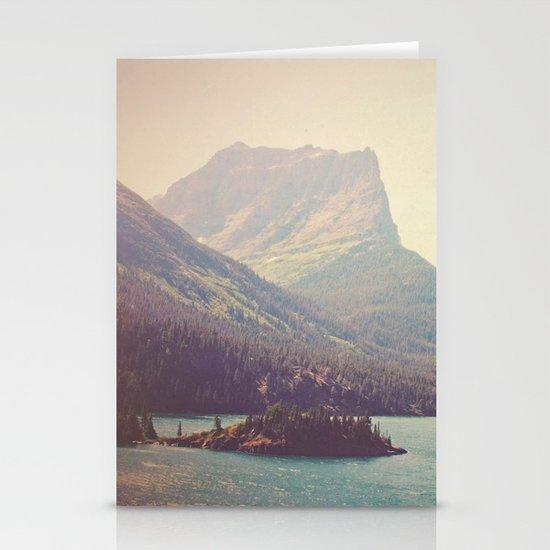 Retro Glacier Stationery Card