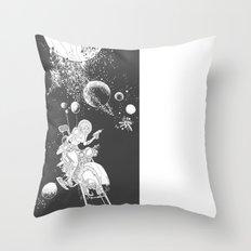 rocket lass Throw Pillow