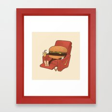 Lunch Break. Framed Art Print