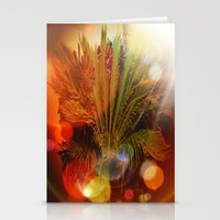 Tropical plants and flowers Stationery Cards
