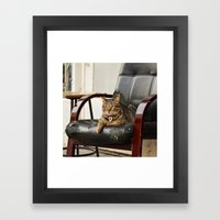 The Catfather Framed Art Print